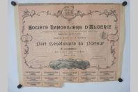 Part bénéficiaire Société immobilière d'Algérie
