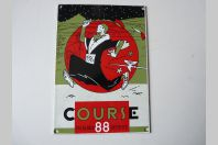 Ancienne Plaque émaillée Course de Escalade 1988 Genève