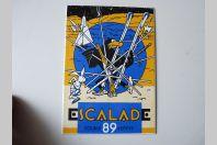 Ancienne Plaque émaillée Course de Escalade 1989 Genève