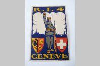 CPA Militaria R.I.4 Genève