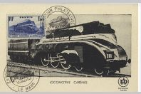 Carte-maximum France n° 340 - Locomotive Pacific carénée