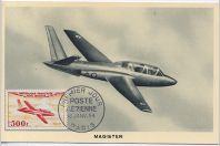 Carte-maximum France PA n°32 Avion Fouga Magister