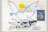 Carte-maximum Algérie - Picasso - Le monde sans armes