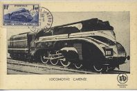 Carte-maximum France n° 340 - Locomotive carénée